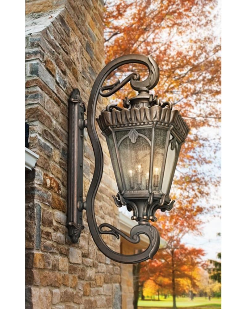 Elstead York Pedestal Lantern Light Black: Elstead Lighting Kichler Tournai 4 Light Outdoor Grand