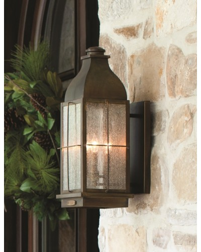 Hinkley Bingham 3 Light Outdoor Large Wall Lantern In Sienna Finish