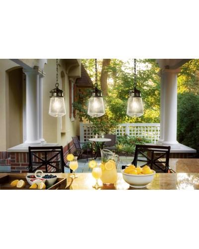 Elstead Lighting Kichler Lyndon 1 Light Outdoor Small Hanging Lantern In Architectural Bronze Finish
