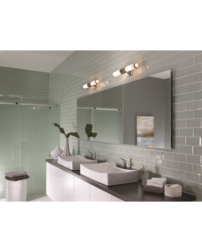 Feiss Payne 2 Light Bathroom Wall Light In Polished Chrome Finish With Opal Glass (IP44)