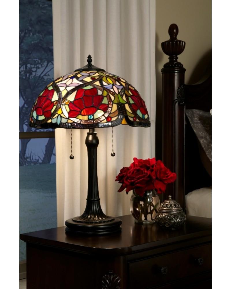 Elstead Lighting - Quoizel Tiffany - Larissa 2 Light Table Lamp In ...
