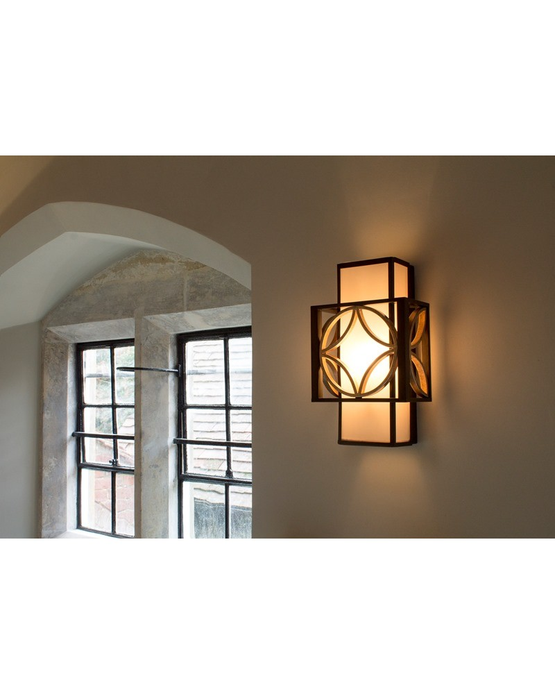 Elstead Lighting Feiss Remy 1 Light Wall Light In Heritage Bronze And Parisienne Gold Finish ...