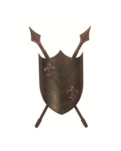 Elstead Lighting 2 Light Crusader Wall Light In Burnished Bronze Finish - Hand Crafted