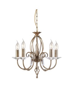 Elstead Lighting Aegean 5 Light Duo-Mount Chandelier In Aged Brass Finish