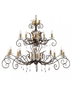 Elstead Lighting Amarilli 15 Light Chandelier In Bronze/ Gold Patina Finish