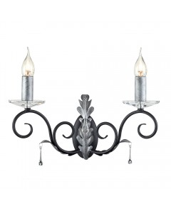 Elstead Lighting Amarilli 2 Light Wall Light In Black/Silver Finish