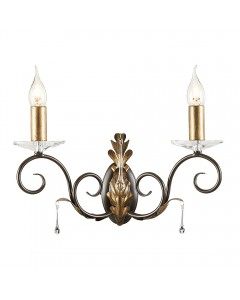 Elstead Lighting Amarilli 2 Light Wall Light In Bronze/ Gold Patina Finish