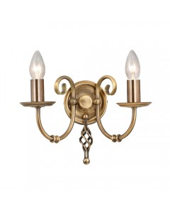 Elstead Lighting Artisan 2 Light Wall Light In Aged Brass Finish
