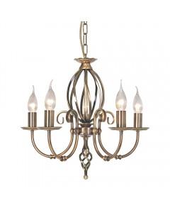 Elstead Lighting Artisan 5 Light Duo-Mount Chandelier In Aged Brass Finish