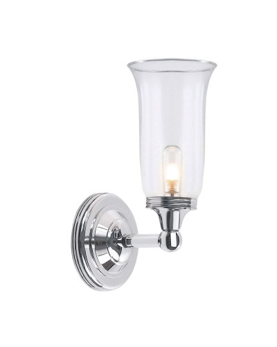 Elstead lighting austen2 solid brass 1 light bathroom wall light in elstead lighting austen2 solid brass 1 light bathroom wall light in polished chrome finish with clear aloadofball Choice Image