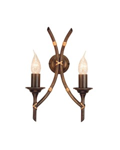 Elstead Lighting Bamboo 2 Light Wall Light In Bronze Patina Finish