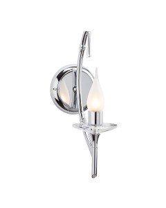 Elstead Lighting Brightwell 1 Light Bathroom Wall Light In Polished Chrome Finish (IP44)