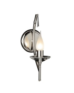Elstead Lighting Brightwell 1 Light Wall Light In Polished Nickel Finish