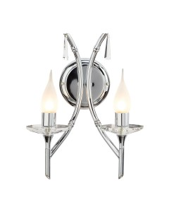 Elstead Lighting Brightwell 2 Light Bathroom Wall Light In Polished Chrome Finish (IP44)