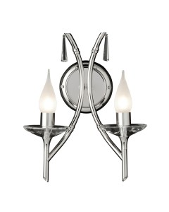 Elstead Lighting Brightwell 2 Light Wall Light In Polished Nickel Finish