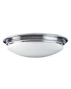Elstead Lighting Brompton 7W LED Bathroom Flush Mounted Ceiling Light In Polished Chrome Finish (IP44)