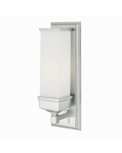 Elstead Lighting Cambridge 1 Light Bathroom Wall Light In Polished Chrome Finish With Opal Glass Shade (IP44)