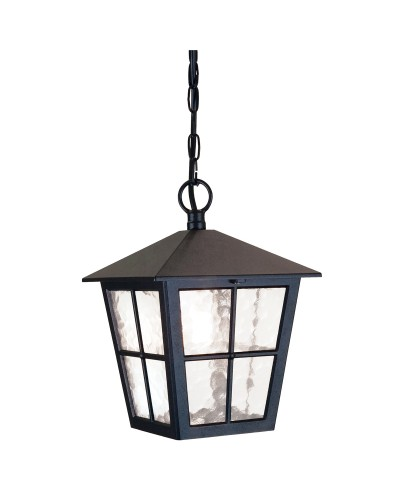 Elstead Lighting Canterbury 1 Light Outdoor Chain Lantern In Black Finish