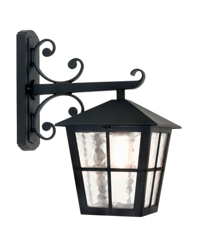 Elstead Lighting Canterbury 1 Light Outdoor Downward Wall Lantern In Black Finish