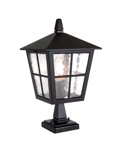 Elstead Lighting Canterbury 1 Light Outdoor Pedestal Lantern In Black Finish