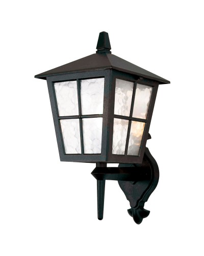 Elstead Lighting Canterbury 1 Light Outdoor Upward Wall Lantern In Black Finish