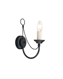 Elstead Lighting Carisbrooke 1 Light Wall Light In Black Finish