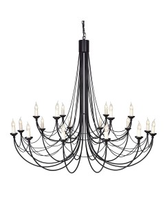 Elstead Lighting Carisbrooke 18 Light Chandelier In Black Finish