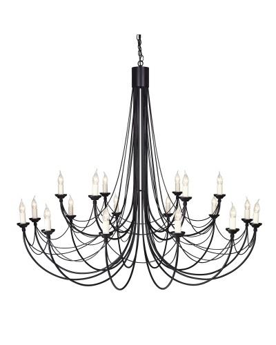 Elstead Lighting Carisbrooke 18 Light Chandelier In Black Finish