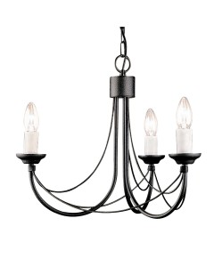 Elstead Lighting Carisbrooke 3 Light Duo Mount Chandelier In Black Finish