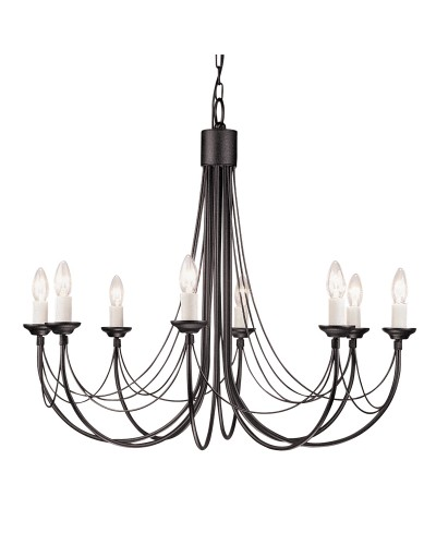 Elstead Lighting Carisbrooke 8 Light Chandelier In Black Finish