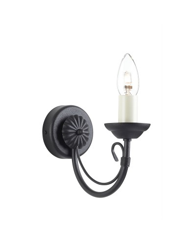 Elstead Lighting Chartwell 1 Light Wall Light In Black Finish