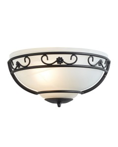 Elstead Lighting Chartwell 1 Light Wall Uplighter In Black Finish With White Glass