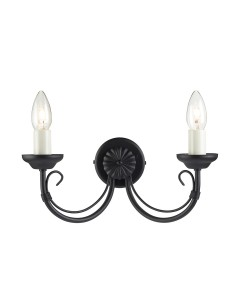 Elstead Lighting Chartwell 2 Light Wall Light In Black Finish