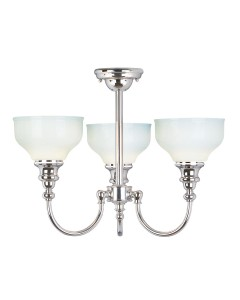Elstead Lighting Cheadle 3 Light Bathroom Ceiling Light In Polished Chrome Finish With Opal Glass Shades (IP44)