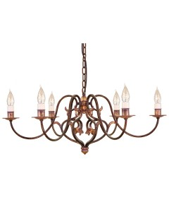 Elstead Lighting Coniston 6 Light Chandelier In Burnished Gold Finish