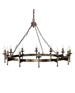 Elstead Lighting Cromwell 12 Light Wheel Chandelier In Old Bronze Finish