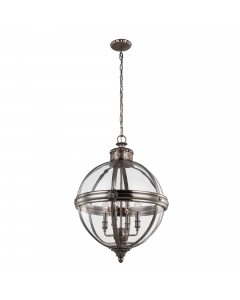 Feiss Adams 4 Light Pendant Chandelier In Antique Nickel Finish