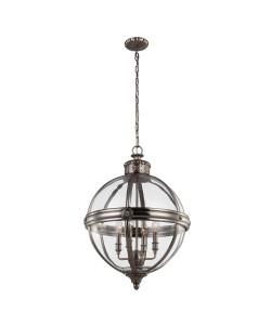 Elstead Lighting Feiss Adams 4 Light Pendant Chandelier In Antique Nickel Finish