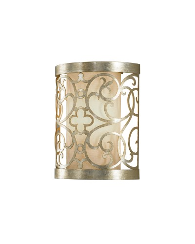 Feiss Arabesque 1 Light Wall Light In Silver Leaf Patina Finish