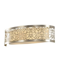 Feiss Arabesque 2 Light Large Wall Light In Silver Leaf Patina Finish