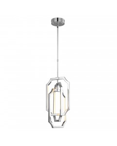 Feiss Audrie 3.5W LED Medium Pendant In Polished Nickel Finish With Height Adjustable Rods