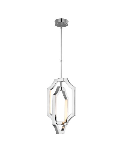Feiss Audrie 3W LED Small Pendant In Polished Nickel Finish With Height Adjustable Rods