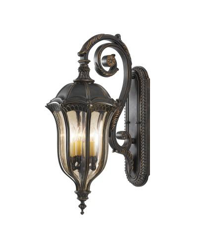 Feiss Baton Rouge 4 Light Outdoor Large Wall Lantern In Warm Walnut Finish