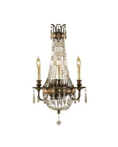 Feiss Bellini 3 Light Crystal Wall Light In An Oxidised Bronze Finish