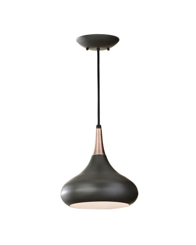 Feiss Beso 1 Light Medium Pendant In Dark Bronze Finish With Height Adjustable Cord
