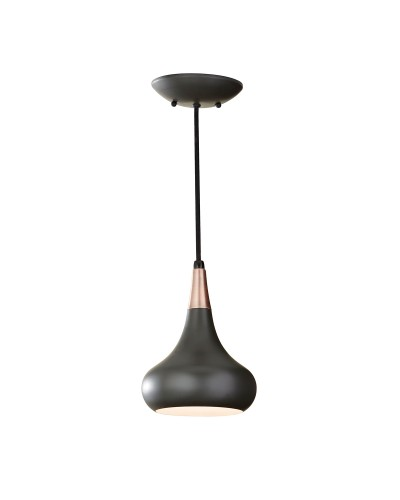 Feiss Beso 1 Light Mini Pendant In Dark Bronze Finish With Height Adjustable Cord