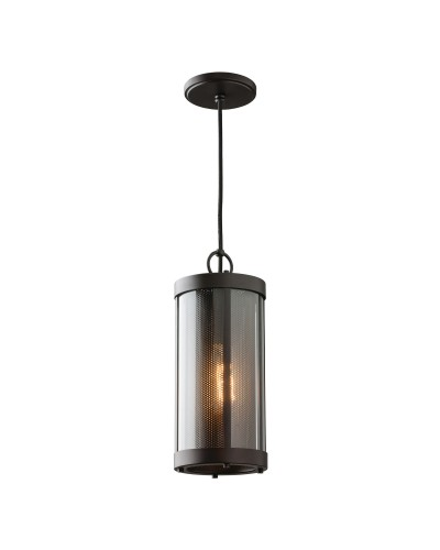 Feiss Bluffton 1 Light Mini Pendant In Oil Rubbed Bronze Finish With Height Adjustable Cord