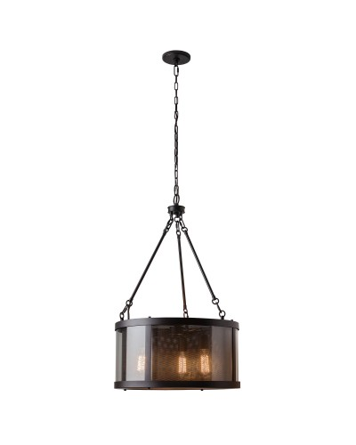 Feiss Bluffton 3 Light Pendant In Oil Rubbed Bronze Finish