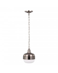 Feiss Cadence 1 Light Mini Pendant In Polished Nickel/Brushed Steel Finish