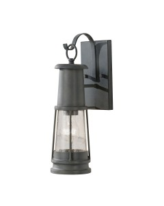 Feiss Chelsea Harbor 1 Light Outdoor Wall Lantern In Storm Cloud Grey Finish